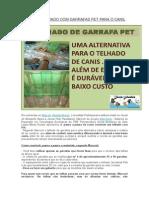 Faça Um Telhado Com Garrafas Pet Para o Canil