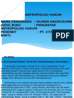 Resume Buku Antropologi Hukum Power Point
