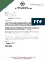 State Auditor response to RPNM IPRA