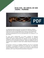 DESOBEDIENCIA CIVIL  EN CÁRCEL DE SAN ISIDRO - POPAYÁN  Mayo 2015
