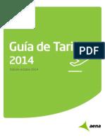 Tarifas Aena SA Guía 2014 Octubre14