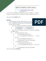 Alpha Numeric Symbol Test (Part i)
