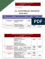 Activitati Extrasc. 2014-2015