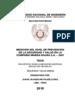informe de la compañia minera RAURA SA