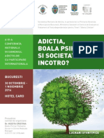 ADICTIA 2014 - Lucrari Stiintifice Si Postere
