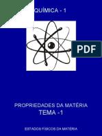 TEMA - 1 PROPRIDADES DA MATÉRIA
