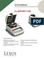 Balanza Axis Det. Humedad ATS-BTS
