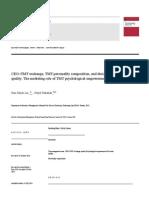 LQ 2014 CEO–TMT Exchange, TMT Personality Composition, And Decision