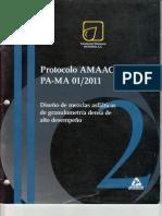 Protocolo AMAAC 2011 Diseño de Mezclas