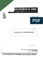 Assitente Em Administração UFSM - 2003