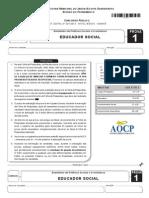 Prova Aocp educador social prefeitura de jaboatao dos guararapes/Pe 2015