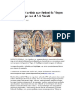 La Visión Del Artista Que Fusionó La Virgen de Guadalupe Con El Adi Shakti
