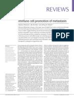 Immune Cell Promotion of Metastasis
