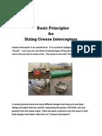 Basic Principles for Sizing Grease Interceptors