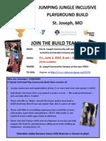 Community Build Flyer for St. Joseph