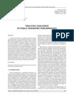 TWO-LEVEL EVALUATION OF PUBLIC TRANSPORT PERFORMANCES