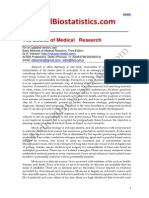 Basics of Medical Research