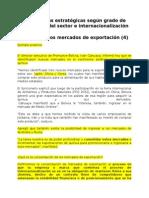 Alternativas Estratégicas Según Grado de Globalidad Del Sector e Internacionalización