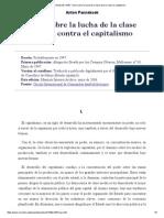 Tesis sobre la lucha de la clase obrera contra el capitalismo