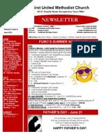 Newsletter for June 2015