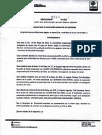 Sotaya. Resolucion Para La Pagina, Ordenes Judiciales