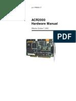 ACR2000 Hardware Manual ACR2000 Hardware Manual