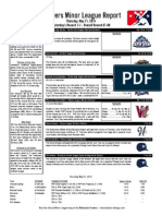 Minor League Report 15.05.21
