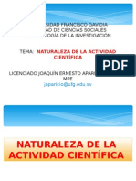Naturaleza de La Actividad Cientifica