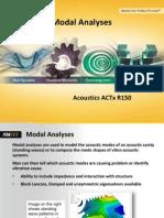 Acoustics AACTx R150 L02 Modal Analyses