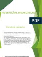 Transnational Organizations