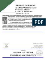 Jodo Mission Bulletin - June 2015
