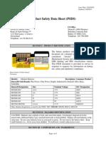 MSDS - Pilas Usadas de 9V