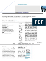 1. Foundation and Overall iStructure Designs of Continuous Spread Footings