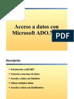 8.- Acceso a Datos Con Microsoft ADO.net