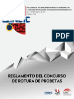 Reglamento Del Concurso de Rotura de Probetas Del XXIII CONEIC Chiclayo 2015