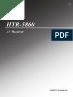 user guide for reciever HTR-5860