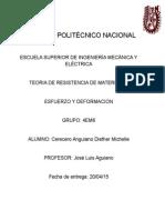 Teoria de Resietencia de Materiales - Esfuerzo y Deformacion