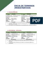 Diferencia de Terminos Administrativos