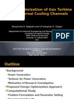 Design Optimization of Gas Turbine Blade Internal Cooling Channels