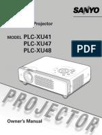 Projector Manual 3073
