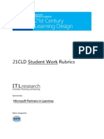 21CLD Student Work Rubrics