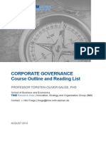 Course Outline Corporate Governance