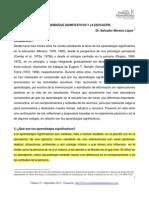 Aprendizajes Significativos en la Educacion  de Salvador Moreno