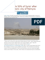 Isis 'Controls 50% of Syria' After Seizing Historic City of Palmyra