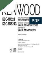 KDC-M4524 manual instruciones