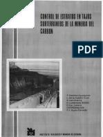 Control de estratos en tajos subterráneos de la minería de carbón