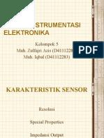 Karakteristik Sensor