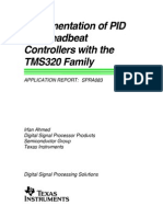Implementation of PID and Deadbeat Controllers with the TMS320 Family