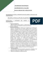 Orientaciones Para La Presentación Del Diseño de Investigación