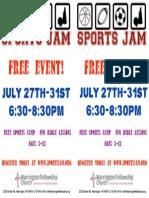 Sports JAM Flyer 2015